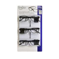 Picture of Foster Grant Full Frame Classic Eyewear, +2.50, Black, Pack of 3