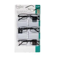 Picture of Foster Grant Full Frame Metal Eyewear, Pack of 3
