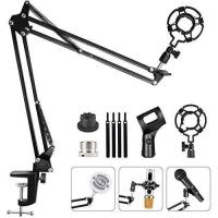 Picture of Hauea Upgrade Adjustable Microphone Stand with Shock Mount - Black