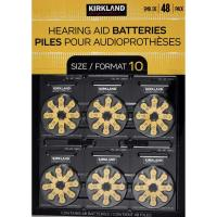 Picture of Kirkland Signature Zinc Hearing Aid Batteries - Size 10, Pack of 48