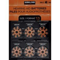 Picture of Kirkland Signature Zinc Hearing Aid Batteries - Size 13, Pack of 48