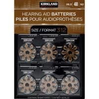 Picture of Kirkland Signature Zinc Hearing Aid Batteries - Size 312, Pack of 48