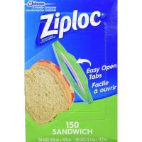 Picture of Ziploc Sandwich Bags, Pack of 150