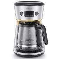 Picture of Breville Easy Measure Filter Coffee Machine,VCF115, 1.8L, Silver & Gold