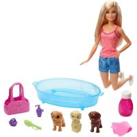 Picture of Barbie Doll Playset with 3 Puppies and Accessories