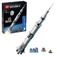 Picture of Lego 92176 Ideas NASA Apollo Saturn V Scientific Building Set - White