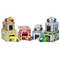 Picture of Melissa And Doug Nesting Sorting Town Buildings & Community Vehicles