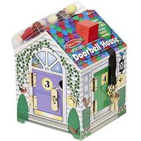 Picture of Melissa & Doug Wooden Doorbell House, Multicolour