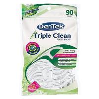 Picture of Dentek Triple Clean Floss Picks, White, 90 pcs