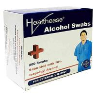 Picture of Healthease Saturated Cleansing Alcohol Swabs, 200 Sachets