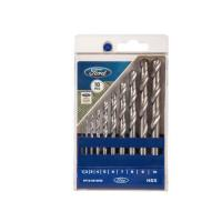 Picture of Ford 10-Piece Hss Drill Bit Set, Silver