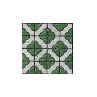 Picture of Al Seeb Ceramic 30.3x30.3cm Floor Tile, AS6103, Green & White - Carton of 29