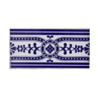 Picture of Al Seeb Ceramic 15x30cm Floor Tiles, AS204, Blue & White - Carton of 20 Pcs