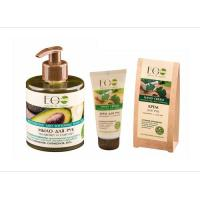 Picture of Organic Hand Soap and Hand Cream Set for Moisturizing and Softness, 550g