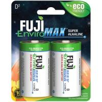 Picture of Fuji Enviromax Super Alkaline Everyday Batteries, D, Pack of 2pcs