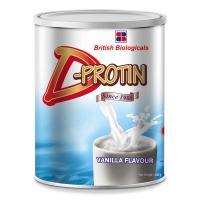 Picture of D-Protin D-Protin Fiber Enriched Vanilla Powder, 400g