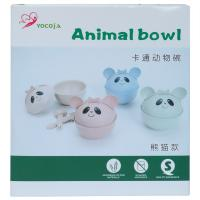 Picture of Cute Animal Design Bowl With Lid & Spoon Set, Assorted