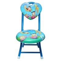 Picture of Cartoon Printed Kids Metal Chair, Blue