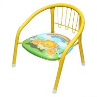 Picture of Cut Metal Frame Soft Chair For Kids, Blue