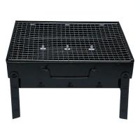 Picture of Portable Box Type BBQ Charcoal Grill, Black