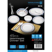Picture of Royalford 45 Pcs Melamine Ware Dinner Set, RF6718