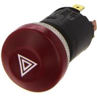 Picture of Hella Push Control Hazard Light Switch, 12V, Red, 6HF 003 916-011
