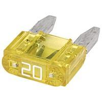 Picture of Hella Mini - Flat Fuse, 20A, Yellow, 8JS 728 596-161, Box Of 50 Pcs