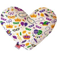 Picture of Mardi Gras Masks Canvas Heart Dog Toy