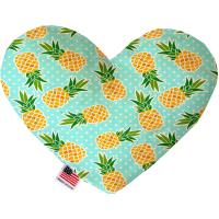 Picture of Pineapples and Polka Dots Heart Dog Toy