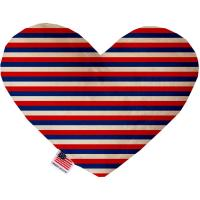 Picture of Patriotic Stripes Canvas Heart Dog Toy