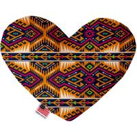 Picture of Tan Southwest Canvas Heart Dog Toy