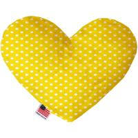 Picture of Yellow Polka Dots Canvas Heart Dog Toy