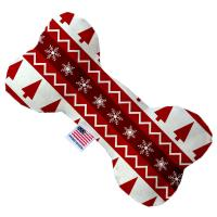 Picture of Red Classic Christmas Bone Dog Toy