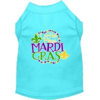 Picture of Miss Mardi Gras Screen Print Mardi Gras Dog Shirt