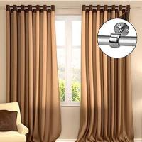 Picture of Abbasali Curtain Rod With Closet Pole Sockets, Silver