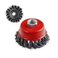 Picture of Abbasali Steel Cup Wire Brush Twisted Hard, Red