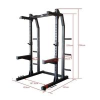 Picture of 1441 Fitness Heavy Duty Half Cage Squat Rack With Pull Up Bar