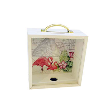 Picture of Lin Wei Decorative Flamingo Shade Money Box