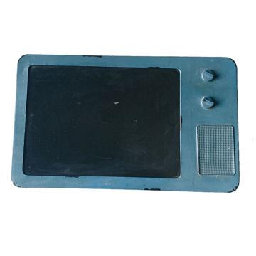 Picture of Home Diy Blue Retro Rustic Metal Tv Shaed Black Board