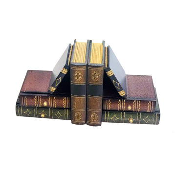 Picture of Ling Wei Wooden Bookends With Desktop Drawer Units, 2 Pieces
