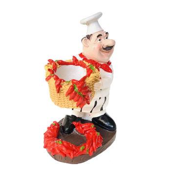 Picture of Ling Wei European Mini Pasta Chef Figurine Holder