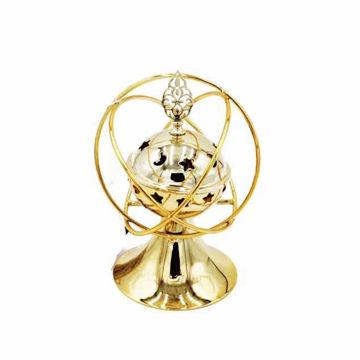 Picture of Ling Wei Abstract Shaped Bakhoor Incense Burner, Gold