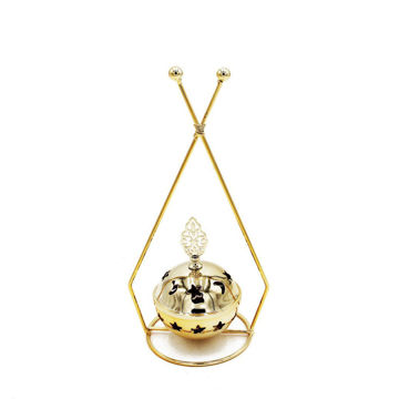 Picture of Ling Wei Abstract Triangular Design Bakhoor Incense Burner, Gold