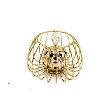 Picture of Ling Wei Abstract Round Shape Bakhoor Incense Burner, Gold