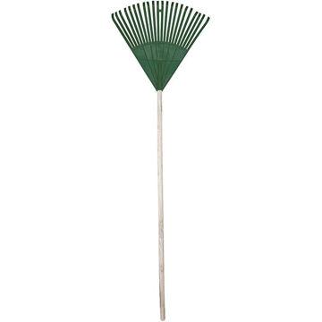 Picture of Garden Leaf Rake Pvc/Wooden Handle 22 Teeth Green
