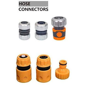 Picture of Hylan 6Pcs Premium Metal Garden Water Hose Connector Set Quick