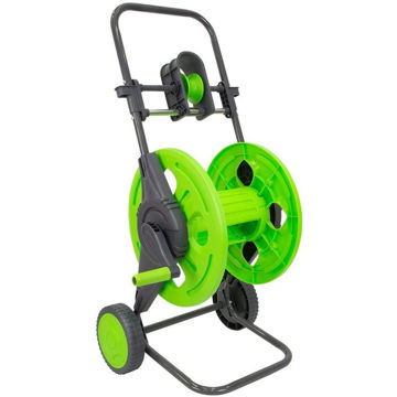 Picture of Hylan Portable 2-Wheel Watering Hose Reel Cart with Hose Guide, Green
