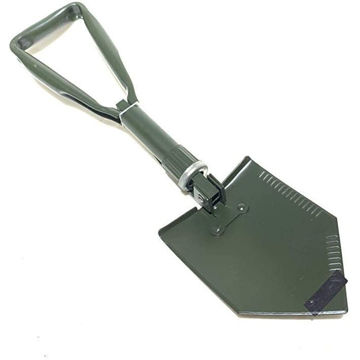 Picture of Hylan Tri-Fold Folding Shovel for Camping and Hiking with Case, Green