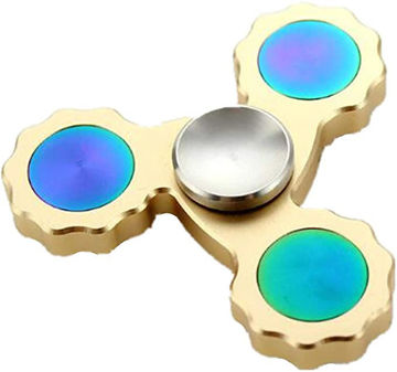 Picture of Super Long Standby Metal Tip Helical Gear Side Hand Spinner Gold