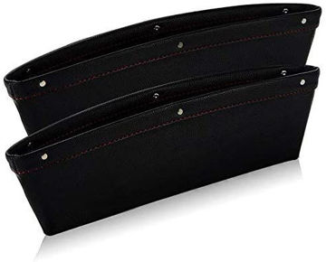 Picture of Car Seat Side Console Slit Caddy Storage Box, Black